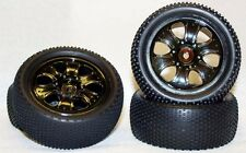 Red cat 1/10 buggy tires for Exceed (black chrome)