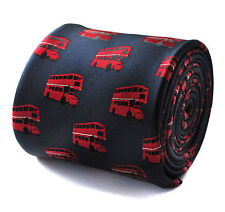 Navy with Red London Bus Pattern Mens Tie Routemaster RRP £19.99 FT659
