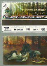 SCHEDA TELEFONICA SAN MARINO FUNGHI MUSHROOMS  GOLDEN N. 82 NUOVO CAT. 7  NUOVA