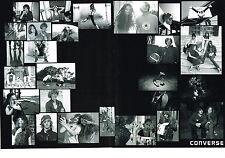 PUBLICITE ADVERTISING 2009 CONVERSE  accessoires pret à porter baskets(2 pages)