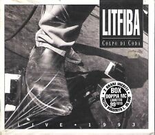 """LITFIBA - RARA DOPPIA MC MUSICASSETTA + BOOK """" COLPO DI CODA """""""