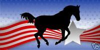 "Horse Equestrian Patriotic Truck Trailer Decal 24"""