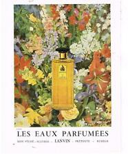 PUBLICITE ADVERTISING  1958  LANVIN  parfum ARPEGE