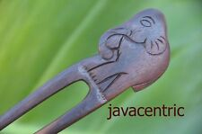 Carved ELEPHANT wooden HAIR JEWELRY PIN PICK FORK Sono wood handmade new natural
