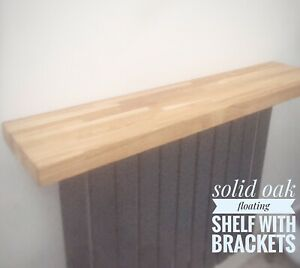 "41.5 X 14"" Solid Oak Wood Floating Shelves-Quality Natural Wood Timber Shelf"
