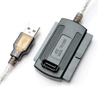 USB 2.0 to IDE/SATA/2.5/3.5inch Hard Drive Disk SSD Adapter Cable For Laptop Hot