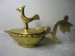 Vintage hand made brass lidded bowl / holder