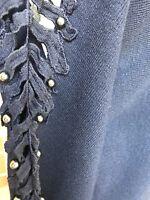 Pearl Detail Ladder Sleeve Jumper Xmas Gift Ladies One Size