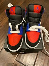 Nike Air Jordan 1 Mid 'Top 3' GS Red Blue White & Black - Size 4.5 UK / 5 Y -