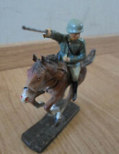 rare prewar ELASTOLIN german soldier on horse attacking with sword - WWII