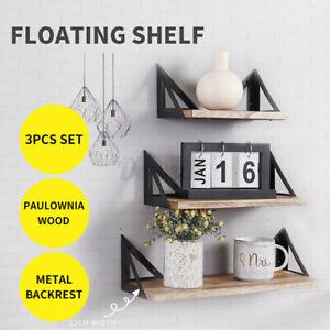 AU Floating Shelf Brackets Shelves Bookshelf Wall Mount Rack Stora