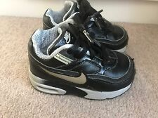 Nike Air Max Baby Infant Trainers Shoes Black Grey Size 5 Uk