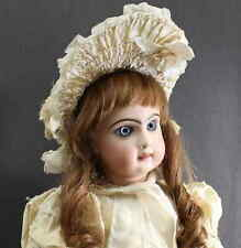 "GORGEOUS ANTIQUE FRENCH DOLL - ""TETE  JUMEAU""  -  LARGE 22 Inch - Deep Blue Eyes"