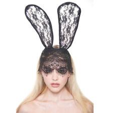 Black Rabbit Ear Party Headband Fashion Women Lace Mask Hair Accessory