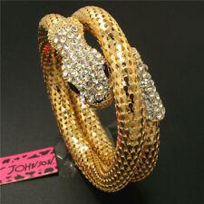 crystal snake Women Bracelet Gift Hot Betsey Johnson Fashion Gold-plated