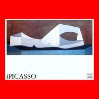 RARE PABLO PICASSO PRINT LITHOGRAPH:NU COUCHE AU LIT BLEU-1946-NUDE MUSEUM ANTIB