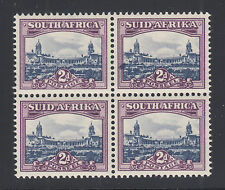 South Africa Sc 56 MNH. 1950 2p Government Buildings, Block w/ Ink Blotch