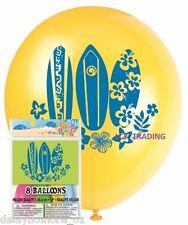 Hawaiian Luau Beach Pool Party Supplies 8x Printed Balloons Decoration Helium