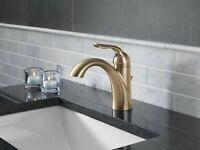 Delta Faucet Single-Handle Bathroom Faucet Metal Drain Assembly Champagne Bronze