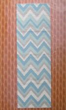 Geometric 2.6' x 8' Hand Woven Wool Rugs Home Décor Turkish Kilim Dhurrie Carpet