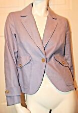 Talbots Grace Fit Blue Design Jacket Sz  10P NWT