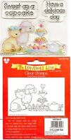 HELZ CUPPLEDITCH CLEAR STAMPS - THE LONDON LINE -TIME FOR TEA SWEET AS A CUPCAKE