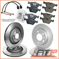 4X BRAKE DISC + PADS + WEAR SENSOR FRONT + REAR BMW X5 E53 3.0 4.4