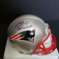 Tom Brady Autographed New England Patriots Mini Helmet w/inscription COA