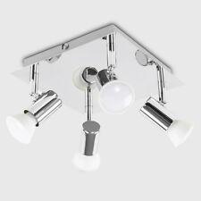 MiniSun 4 Way Adjustable LED Ceiling Spotlight Fitting Kitchen Light GU10 Bulbs