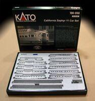 KATO 106056 N California Zephyr 11 Passenger Car Set w/ Display Track 106-056