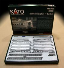 KATO 106056 N California Zephyr 11 Passenger Car Set w/ Display Track 106-056