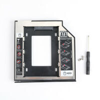 2nd SATA HDD SSD Case Hard Drive Caddy Adapter for Notebook Enclosure Bracket