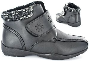 Ladies/Womens Faux soft Leather Touch fastening Ankle boot Size Uk 3-8