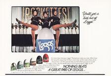 1984 Leggs Pantyhose: Rockettes Vintage Print Ad