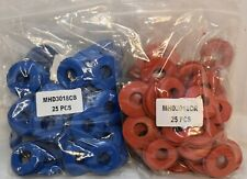 Commercial Truck Trailer Red & Blue Rubber Gladhand Seals - (100Pcs)Mhd3018Cr/Cb