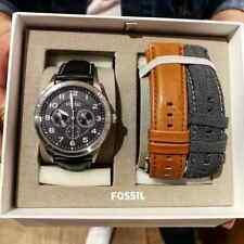 Fossil Flynn Pilot Multifunction Grey Dial Men's Watch with Strap Set BQ2308SET