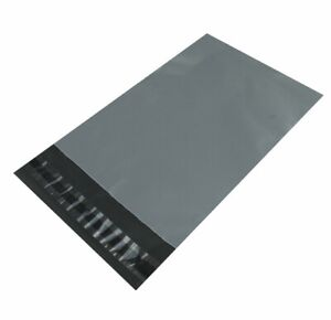 """STRONG GREY 15"""" x 18"""" MAILING POSTAL BAGS POLY MAIL SELF EASY SEAL UK SELLER"""