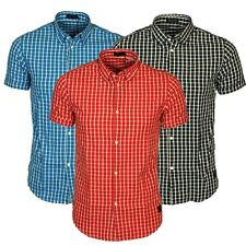 Jack & Jones Mens Short Sleeve Shirt Cotton Check Smart Casual Slim Fit Shirts