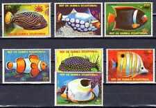 Poissons Guinée équatoriale (53) série complète de 7 timbres oblitérés