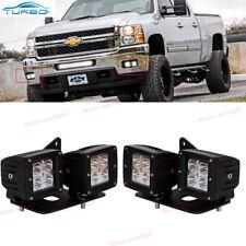 Chevy Silverado 1500/2500/3500 Cube LED Fog Light Kit(4x) w/ Mounting Bracket