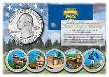 2016 Colorized National Parks America the Beautiful Coins *Set of all 5 Quarters