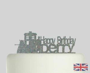 Doctor Who Birthday Personalised Cake topper Acrylic Glitter cake Decoration 140
