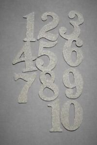 Wendy Addison Glitter Numbers