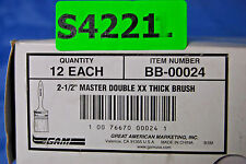 """1-Box of 12 = Great American 2-1/2"""" Master Double Xx Thick Paint Brushes (S4221)"""