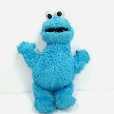 "Cookie Monster Sesame Street Plush Stuffed Animal 10"" Soft Blue Muppet Hasbro"