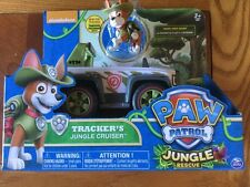 Paw Patrol Jungle Rescue Tracker's Jungle Cruiser Vehicle With Figurine