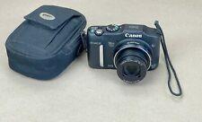 Black Canon PowerShot SX160 IS 16.0 MP Digital Camera (Old Model) w/Case-WORKS