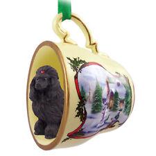 Poodle Christmas Ornament Teacup Blk