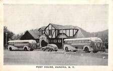 Kanona New York Post House Exterior Buses Antique Postcard K23580