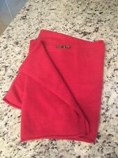 Cris 100% Cashmere Wrap Shrug Poncho Scoop Neck Red One Size Top Sweater $203